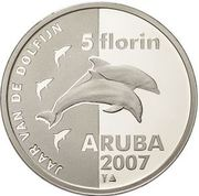 5 Florin - Beatrix (Year of the Dolphin) -  reverse