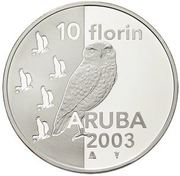10 Florin - Beatrix (Owl) – reverse