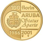 100 Florin - Beatrix (Status Aparte) – reverse