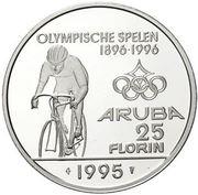 25 Florin - Beatrix (Olympics; with logo) – reverse