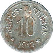10 Pfennig - Arzberg – reverse