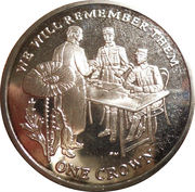 1 Crown - Elizabeth II (Signing of the Armistice) – reverse