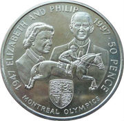 50 Pence - Elizabeth II (Montreal Olympics) – reverse