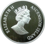 50 Pence - Elizabeth II (Montreal Olympics; Silver Proof Issue) – obverse