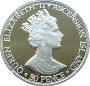 50 Pence - Elizabeth II (Queen Mother; Silver Proof Issue) – obverse