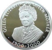 50 Pence - Elizabeth II (Queen Mother; Silver Proof Issue) – reverse