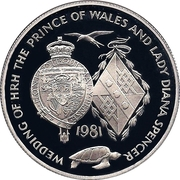 25 Pence - Elizabeth II (Royal Wedding; Silver Proof Issue) – reverse