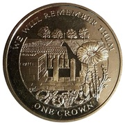 1 Crown - Elizabeth II (Cemetery of the Somme) – reverse