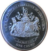 1 Crown - Elizabeth II (Princess Charlotte of Cambridge) – reverse
