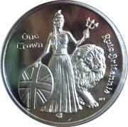 1 Crown - Elizabeth II (275th Anniversary Composition Rule Britannia) – reverse