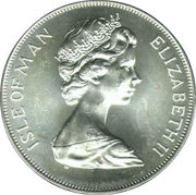 1 Crown - Elizabeth II (Coronation - Mule Issue) – obverse