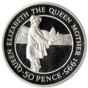 50 Pence - Elizabeth II (Queen Mother) – reverse