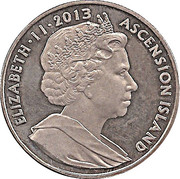 1 Crown - Elizabeth II – obverse