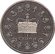 1 Crown - Elizabeth II – reverse
