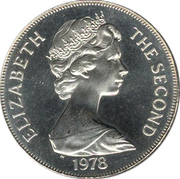 1 Crown - Elizabeth II (Coronation) – obverse