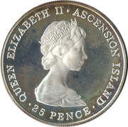 25 Pence - Elizabeth II (Year of the Scout) – obverse