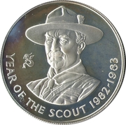 25 Pence (Crown) - Elizabeth II (Year of the Scout) – reverse