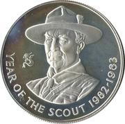 25 Pence - Elizabeth II (Year of the Scout) – reverse