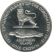 1 Crown - Elizabeth II (Coronation) – reverse