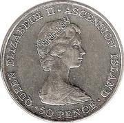 50 Pence - Elizabeth II (Royal Visit) – obverse