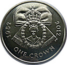 1 Crown - Elizabeth II (Diamond Jubilee-Royal Family order of Elizabeth II) – reverse