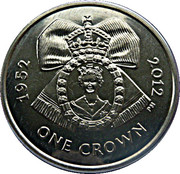 1 Crown - Elizabeth II (Diamond Jubilee-Royal Family order of Elizabeth II) – reverse