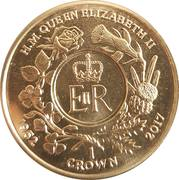 1 Crown - Elizabeth II (Sapphire Jubilee) – reverse