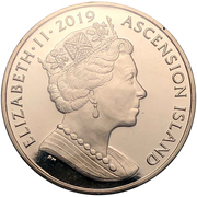 1 Crown - Elizabeth II (First man on the moon) – obverse
