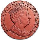 1 Crown - Elizabeth II (175th Anniversary Penny Red) – obverse