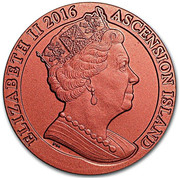 1 Crown - Elizabeth II (175th Anniversary Penny Red) – obverse