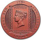 1 Crown - Elizabeth II (175th Anniversary Penny Red) – reverse