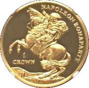 1 Crown - Elizabeth II (Napoleon Bonaparte - Gold) – reverse