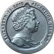 1 Crown - Elizabeth II (175th Anniversary Tu'penny Blue) – obverse