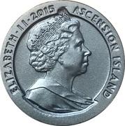 1 Crown - Elizabeth II (175th Anniversary Tu'penny Blue) -  obverse
