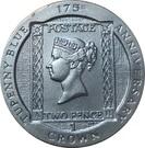 1 Crown - Elizabeth II (175th Anniversary Tu'penny Blue) – reverse
