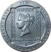 1 Crown - Elizabeth II (175th Anniversary Tu'penny Blue) -  reverse