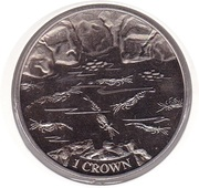 1 Crown - Elizabeth II (Shrimp) – reverse