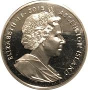 1 Crown - Elizabeth II (275th Anniversary Composition Rule Britannia) – obverse