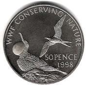 50 Pence - Elizabeth II (Frigate birds; Silver Proof Issue) – reverse