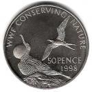 50 Pence - Elizabeth II (Frigate birds) – reverse