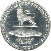 1 Crown - Elizabeth II (Silver Jubilee) – reverse