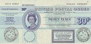 30 Pence (Postal Order) -  obverse