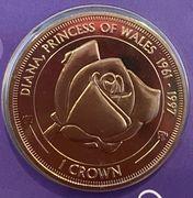 1 Crown - Elizabeth II (Diana, Princess of Wales) – reverse