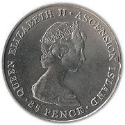25 Pence - Elizabeth II (Royal Wedding; Silver Issue) – obverse