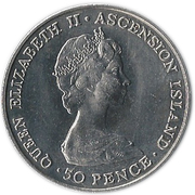 50 Pence - Elizabeth II (Royal Visit; Silver Proof Issue) – obverse