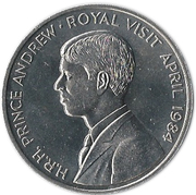 50 Pence - Elizabeth II (Royal Visit; Silver Proof Issue) – reverse