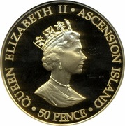 50 Pence - Elizabeth II (Queen Mother; gold issue) – obverse