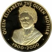 50 Pence - Elizabeth II (Queen Mother; gold issue) – reverse