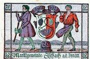 20 Heller (Aschach a. d. Donau; Violet issue) – obverse