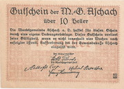 10 Heller ( Aschach a. d. Donau) – reverse